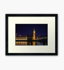 Big Ben is chiming & London is calling  Framed Print