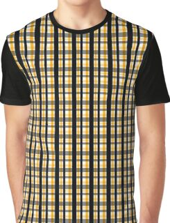 Yellow Gold and Black Plaid Striped Version 1 Graphic T-Shirt