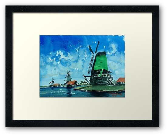 Windmills in Holland by redpaint