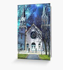 st malo church - illustrated Greeting Card