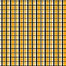 Yellow Gold and Black Plaid Striped Version 2 by Shelley Neff