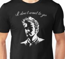 Tenth Doctor - I don't want to go Unisex T-Shirt