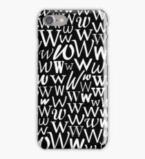 W | Typography (Black) iPhone Case/Skin
