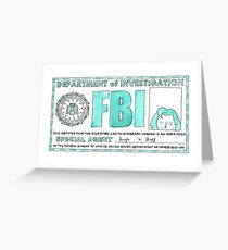 X Files: Dana Scully Greeting Card