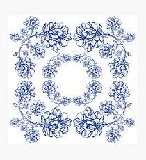 flowers graphic dzgel Photographic Print