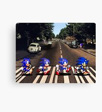 Sonic 8 and 16bit at Abbey Road Canvas Print