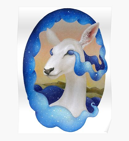 White Deer - Spirit of the Woods Poster