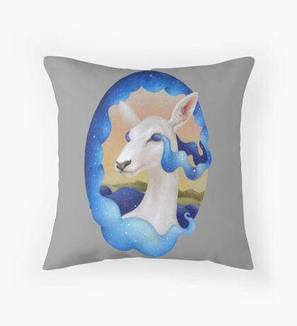 White Deer - Spirit of the Woods Throw Pillow