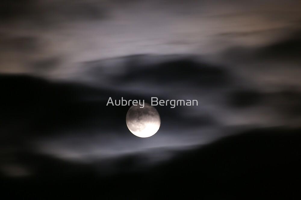 Clouded moon by Aubrey  Bergman