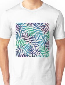 Watercolor Tropical Palm Leaves Unisex T-Shirt