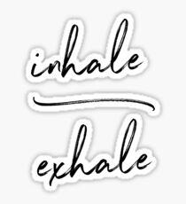 Inhale Exhale Yoga Sticker