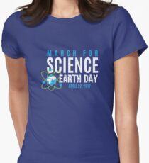 March for Science Earth Day Womens Fitted T-Shirt