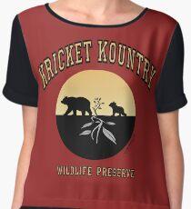KRICKET KOUNTRY WILDLIFE PRESERVE....bears! Chiffon Top