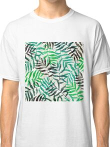 Watercolor Tropical Palm Leaves Classic T-Shirt