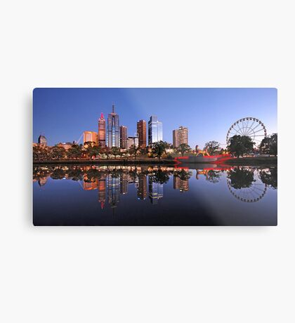 Melbourne on the Yarra Metal Print
