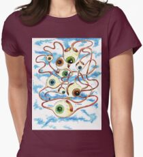 Flying Eyes Womens Fitted T-Shirt