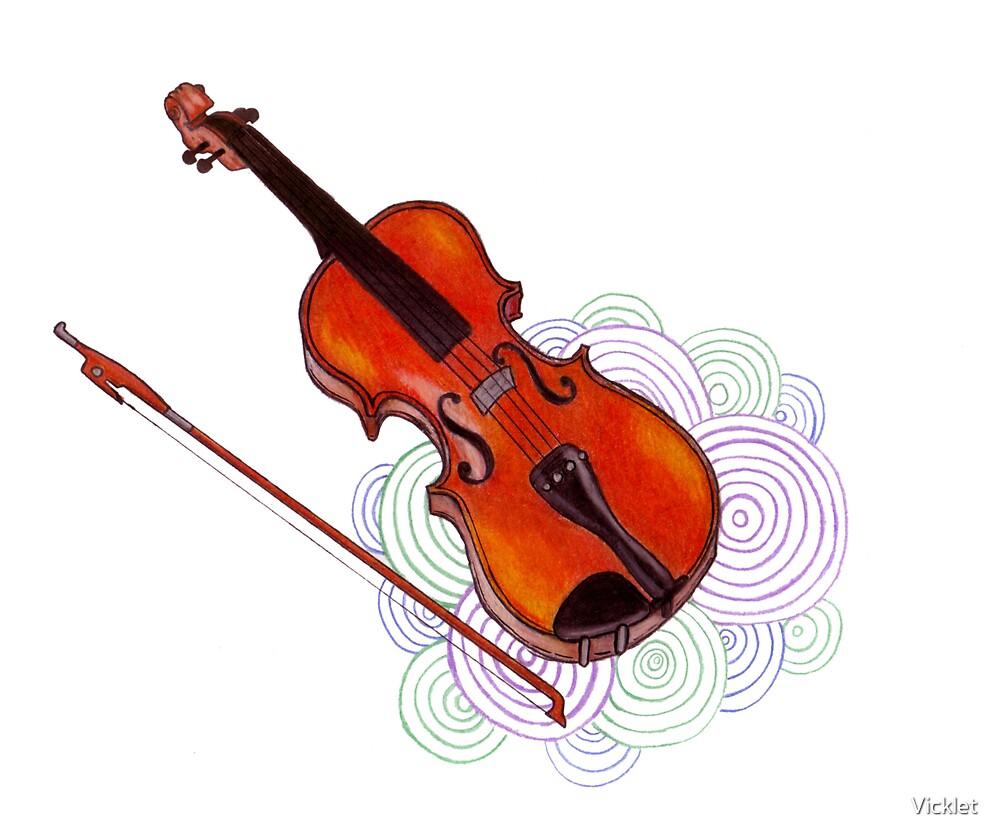 Violin by Vicklet