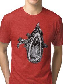 Bio Hazard Fish Tri-blend T-Shirt