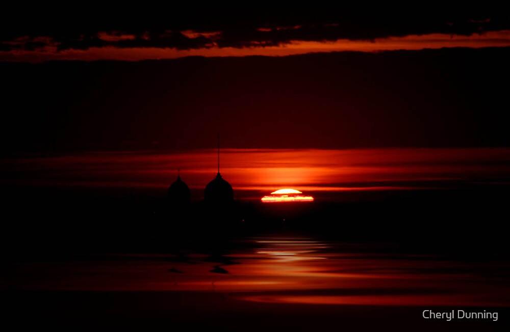dark sunrise 2 by Cheryl Dunning