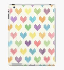 Colorful Knitted Hearts iPad Case/Skin