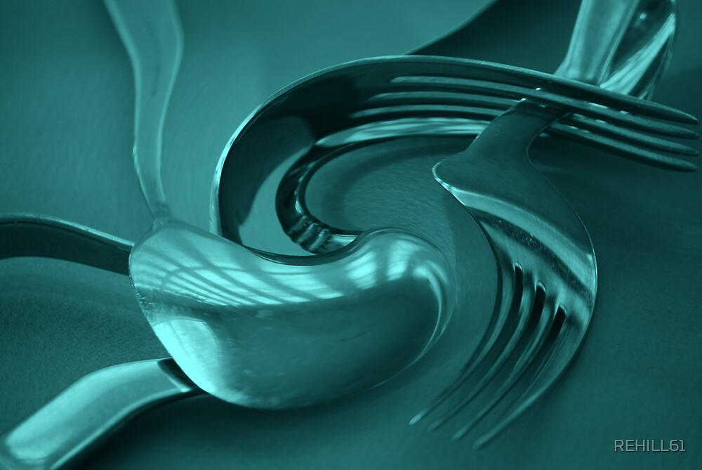 Silverware Swirl with Green Tint  by REHILL61
