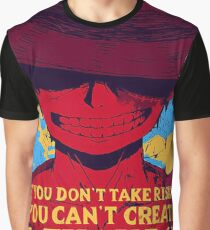 ONE PIECE : Monkey D Luffy Quotes  Graphic T-Shirt