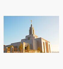 LDS: Draper Utah Temple Photographic Print