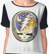 Steal your face (Day & Night - Sun & Moon) Chiffon Top