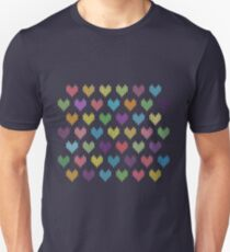 Colorful Knitted Hearts II T-Shirt