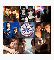 The Tenth Doctor and Donna Noble Photographic Print