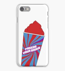 Heathers the Musical Freeze Your Brain Sticker iPhone Case/Skin