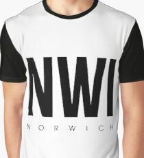 NWI - Norwich Airport Code Graphic T-Shirt