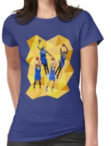 Curry KD Klay Draymond Low Poly Womens Fitted T-Shirt
