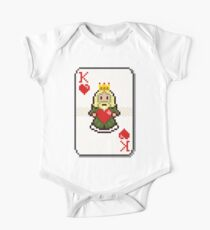 Pixel King of Hearts Kids Clothes