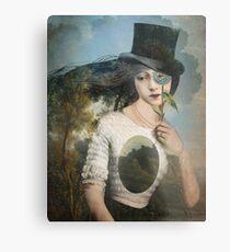 Portrait 11 with Hat Metal Print