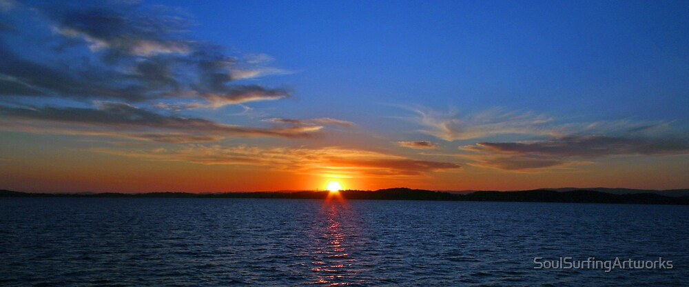 Lake Macquarie Sunset by SoulSurfingArtworks