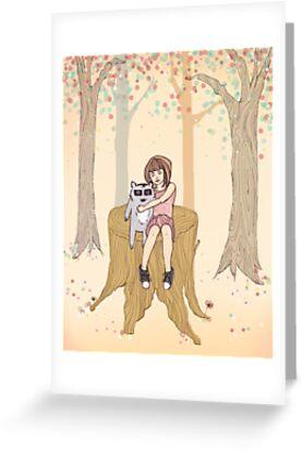 Melissa's Tree - peach by monicamakesthings