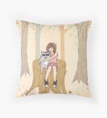 Melissa's Tree - peach Throw Pillow