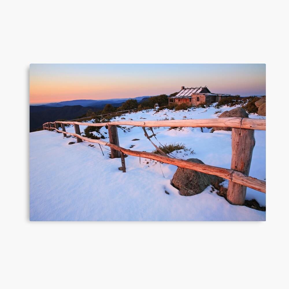Winter Sunset, Craig's Hut, Australia Canvas Print