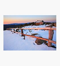 Winter Sunset, Craig's Hut, Australia Photographic Print