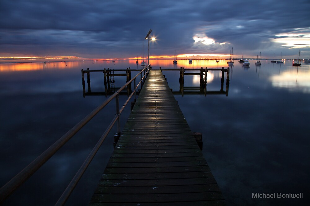 A Winter's Dawn on the Pier, Australia by Michael Boniwell