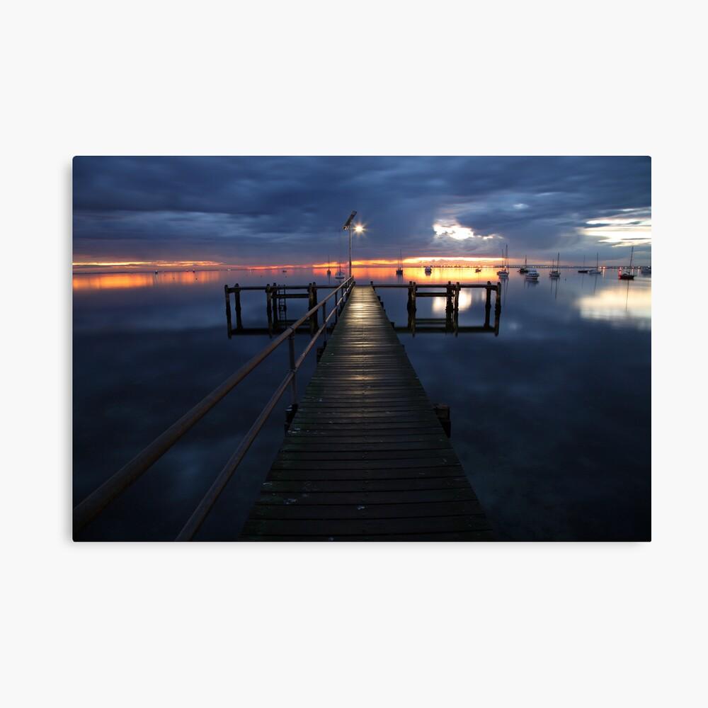 A Winter's Dawn on the Pier, Australia Canvas Print