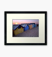 Brighton Beach Boxes, Australia Framed Print