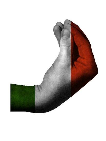 Quot Italian Hand Gesture Quot Poster By Neviz Redbubble