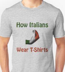 How Italians Wear T-Shirts - Hand gesture design Unisex T-Shirt