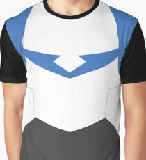 Blue Paladin Armor Graphic T-Shirt