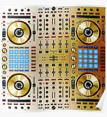 DJ-SX-N In Limited Edition Gold Colorway Poster