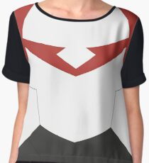 Red Paladin Armor Chiffon Top