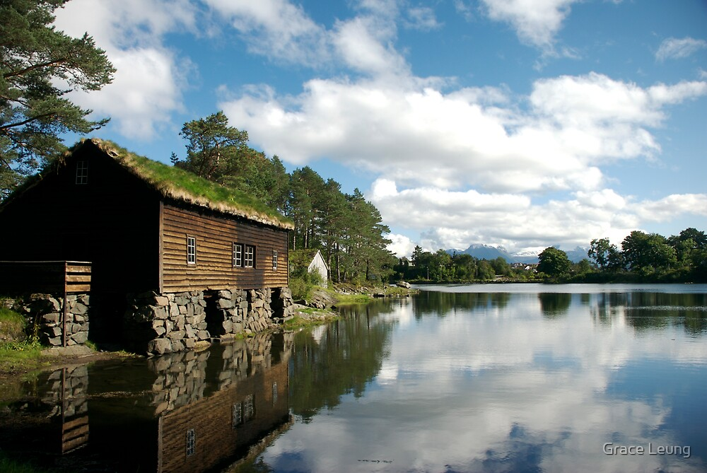 Lakeside Norwegian Hut by Grace Leung