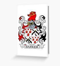 Barker Coat of Arms Greeting Card